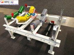SPD-Stahlabflußrinne tragen Rückholauswirkung-Gummiplatten-Bandförderer- Spannrolle mit abgeglichenem untätigerem Rahmen für Bandförderer-System