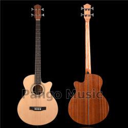 Pango 음악 가문비 나무 & Sapele 4 끈 저음 음향 기타 (PWY-058)
