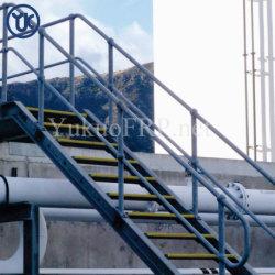 Plástico reforzado con fibra de fibra de vidrio pasamanos de escaleras de la industria de construcción