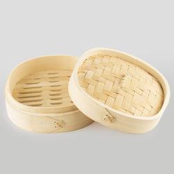 La comida china 18cm Dim Sum de bambú natural vaporizador Set
