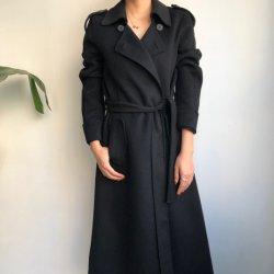 سوداء طويلة أسلوب صوف طبقة & مصنع صوف كشمير طبقة