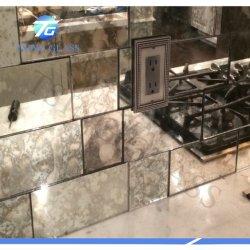 Espejo de aluminio plateado espejo libre de cobre con doble recubrimiento decorativos de cristal de seguridad en el baño de flotación de la hoja de espejo claro de Antigüedades de 2mm 3mm 4mm 5mm 6mm