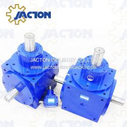 Right-Angle tipo eje de la caja de engranajes de la espiral de los engranajes cónicos para aplicaciones generales con un alto rendimiento y alta eficiencia.