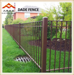 Decorative&Ornamental, galvanisierter Stahl. Bearbeitetes Eisen und Aliminum materieller Röhrenpfosten-Zaun für Garten, Pool