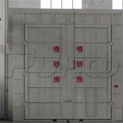 Complexe de structures en acier salle de sablage avec système de recyclage d'abrasif
