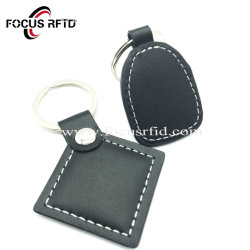 RFIDチップとの工場価格のカスタム革RFIDスマートなKeychain NFC Keyfob