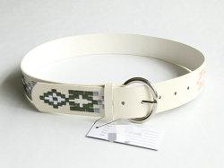 La mujer Fashion bordado cinturón de cuero