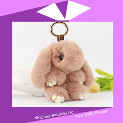 Peluche Jonstew Peles de coelho Bag Ornament Charme P016-007
