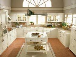 Armoire de cuisine en bois solide de luxe avec Wine Rack