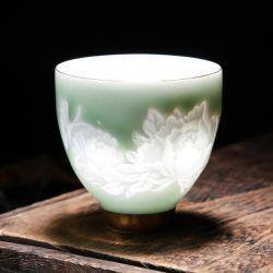 O Chá de porcelana fosco chávena de chá Chá do Adesivo de cerâmica Cup