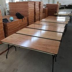 Piscina de 6 pies de madera rectangular para banquetes mesas plegables