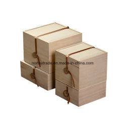Boîte cadeau en bois massif Boîte de rangement en bois Zone d'artisanat du bois pour le thé Boîte en bois avec ruban de soie