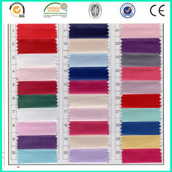 China 100% poliéster fornecedor de material de vestuário barato Tecido acetinado fosco