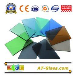 4mm 5mm de 6mm de verre teinté/verre flotté teinté avec des certificats de qualité pour la fenêtre, de la construction, de porte etc