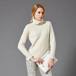 Fabbrica del cinese del commercio all'ingrosso del pullover lavorata a maglia alta qualità del maglione del cachemire del collo di squadra delle donne