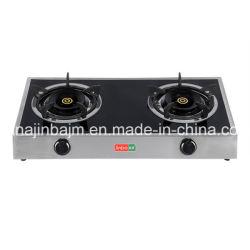 verre trempé de 2 Brûleur haut acier inoxydable cuisinière à gaz/cuisinière à gaz