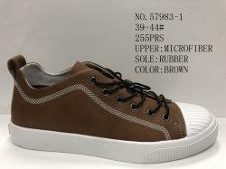 La parte superior de cuero para hombres de microfibra de Skate Patines (nº de exterior 57983)