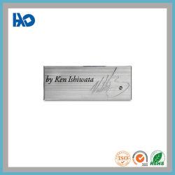 カスタム陽極酸化アルミニウム金属のネームプレートの彫版ワイヤーデッサンの金属の印