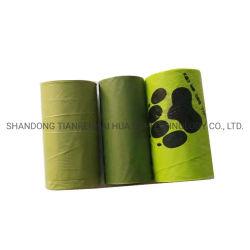 De hete Verkopende Zakken van het Achterschip van het Etiket van de Zak van het Afval van de Hond van de Zak van het Achterschip van de Hond van het Maïszetmeel van 100% Biologisch afbreekbare Privé Composteerbare