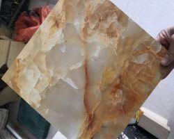Pedra artificial à prova de painéis de parede de PVC com revestimento UV