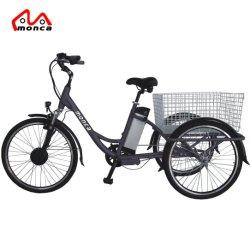 2018 Novo Design City Electric Triciclo Hi-Ten Steel e não de marchas Shimano Tektro Alavanca do Freio
