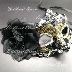 Het Masker van de Lovertjes van de maskerade met Veren en Masker van de Bal van de Maskerade van het Masker van Carnaval van de Bloem het Venetiaanse