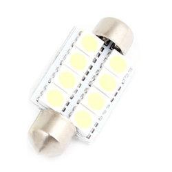 Светодиодный индикатор Car Auto внутренние ручки дверей лампу 12V направленного света лампы подсветки карты 31/36/39/42мм белый светодиод пальчикового типа потолочного фонаря 5050 SMD 6 LED C5w