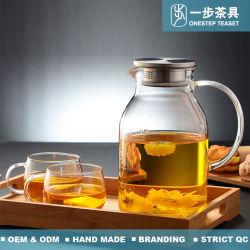 Verseuse en verre borosilicaté résistant à la chaleur pour le thé de l'eau