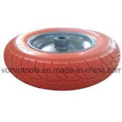 새로운 패턴 3.50-8 PU 외바퀴 손수레를 위한 편평한 자유로운 PU 거품 바퀴