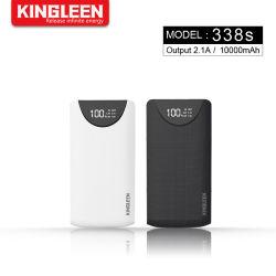 Banque d'alimentation portable 10000 mAh Micro Entrée écran numérique à double sortie USB avec led chargeur rapide 2.1A/Sortie 5 V de la batterie externe pour téléphone mobile