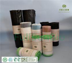 Kan Winkelen Trashbin van het Huisvuil van volledig 100% het Biologisch afbreekbare Plastic/TUV CE13432 van de Zak van de Verpakking van het Voedsel van de Handtas van de Keuken Composteerbare Douane Afgedrukte Zak Drawstring