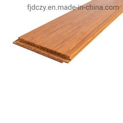 焦茶の屋内固体合成のDeckingのタケ寄木細工の床のフロアーリング