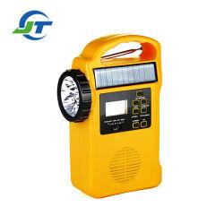 LED-Taschenlampen-beweglicher Emergency Solardynamo-Radio