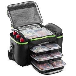 Коллектор большое количество утечек из гильзы теплоизоляцией для пикников и изолированный обед охладитель сумку с наплечным ремнем