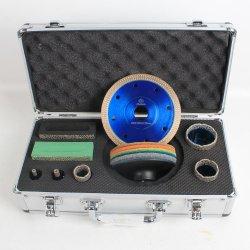 Azulejos de porcelana de Raizi Conjunto de herramientas de diamante de cerámica azulejos de porcelana Juego de puntas de Perforación diamante con disco de corte pads de pulido en seco