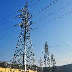 각 강철 전력 수송 탑
