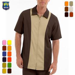 남자의 색깔 구획 내부관리 셔츠