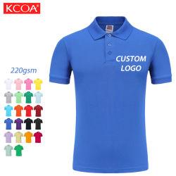 Azul em branco simples Kaos Golf Sports o logotipo personalizado bordados camisa Polo masculina de algodão