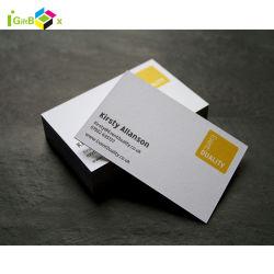 Alta qualidade, cartões de negócios com o logotipo próprio papel de luxo Cartões de visita