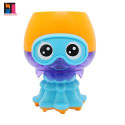 해파리 장난감 아기 목욕 폭포 장난감 플라스틱 아기 목욕 장난감