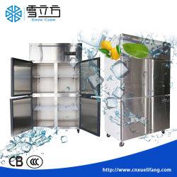 Congelatore di frigorifero caldo della cucina dell'acciaio inossidabile dei portelli 304 di vendita 4 per il ristorante/hotel