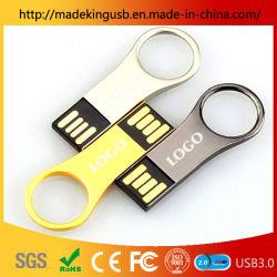 Anneau de clé en métal étanche en métal King U de disque du lecteur Flash USB haute vitesse/stylo lecteur libre de gravure au laser du logo en usine