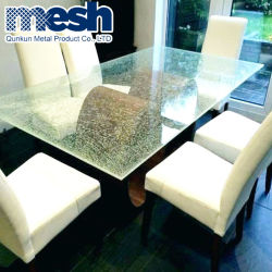 薄板にされたガラスのための真鍮の金属のメッシュ生地