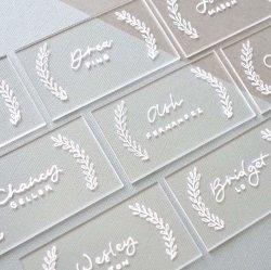 Lieu d'escorte personnalisés en acrylique transparent de cartes pour mariage