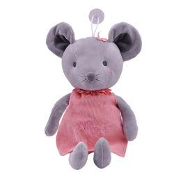 Stuk speelgoed van de Muis van het EMBLEEM van de Douane van de Gift van de bevordering het Leuke Grijze Zachte Dierlijke Pluche Gevulde met Doek