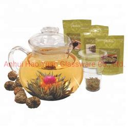 Blooming Fleur de thé théière en verre de définir 45 oz / Théière