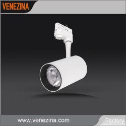 L'aluminium Tracklight 20W/25W/30W Ce énumérés à l'intérieur LED réglable Focus Spot de chenille