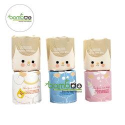 100% de la pasta de papel de bambú, pañuelos de papel higiénico, papel higiénico