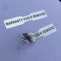 Venda por grosso High-Tech Anti contrafacções de auto-adesivos autocolantes de rótulo de vedação de alumínio