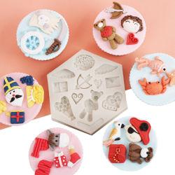 A FDA do molde de silicone decoração de bolo para Bakeware (XY-CM-340)